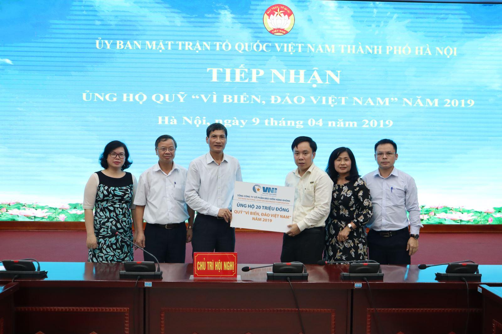 Bảo hiểm Hàng không (VNI) ủng hộ 20 triệu đồng quỹ vì biển, đảo Việt Nam