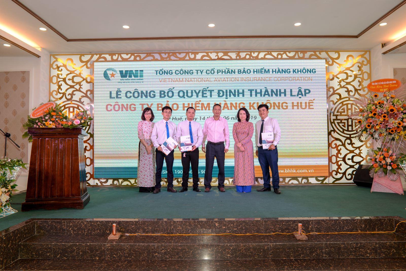 Bảo hiểm Hàng không (VNI) công bố Quyết định thành lập VNI Huế