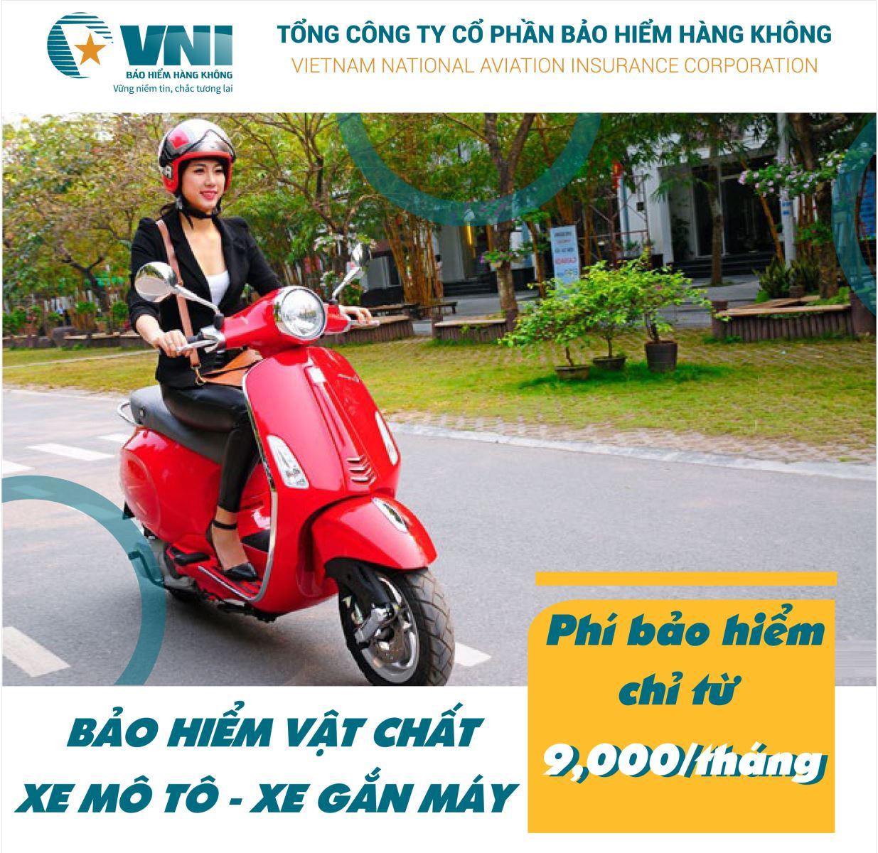 Bảo hiểm vật chất xe máy – VNI đồng hành cùng bạn trên mọi nẻo đường