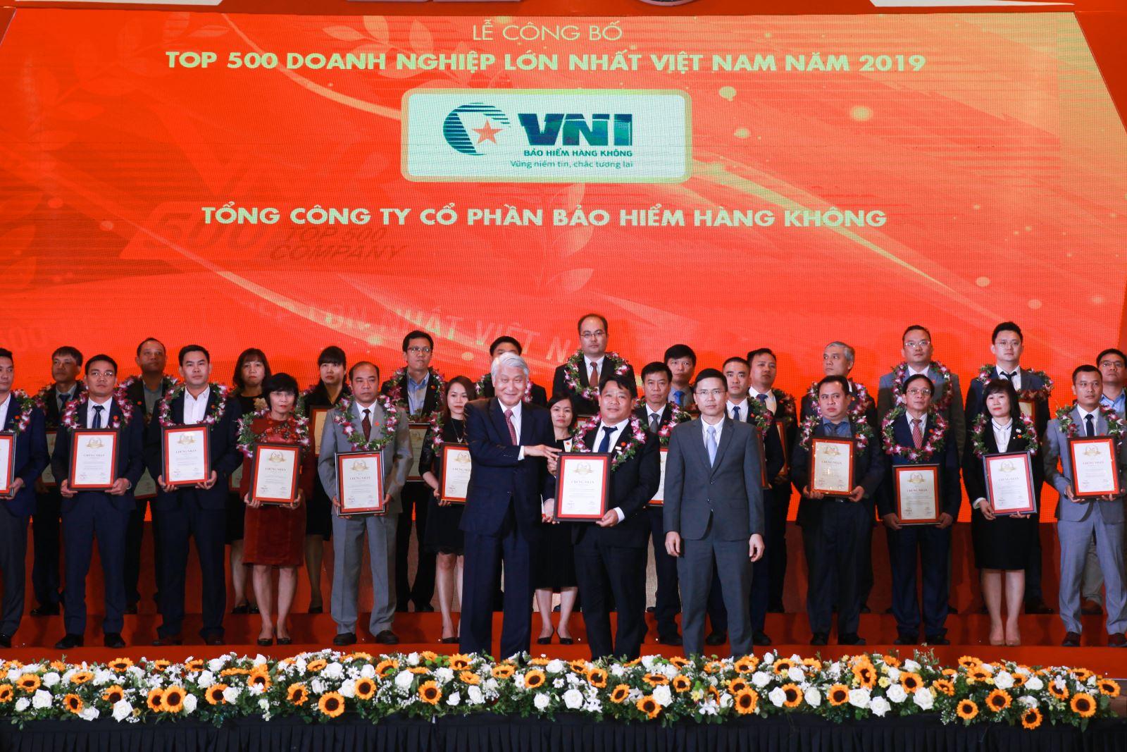 Bảo hiểm Hàng không (VNI) TOP 500 Doanh nghiệp tư nhân lớn nhất Việt Nam