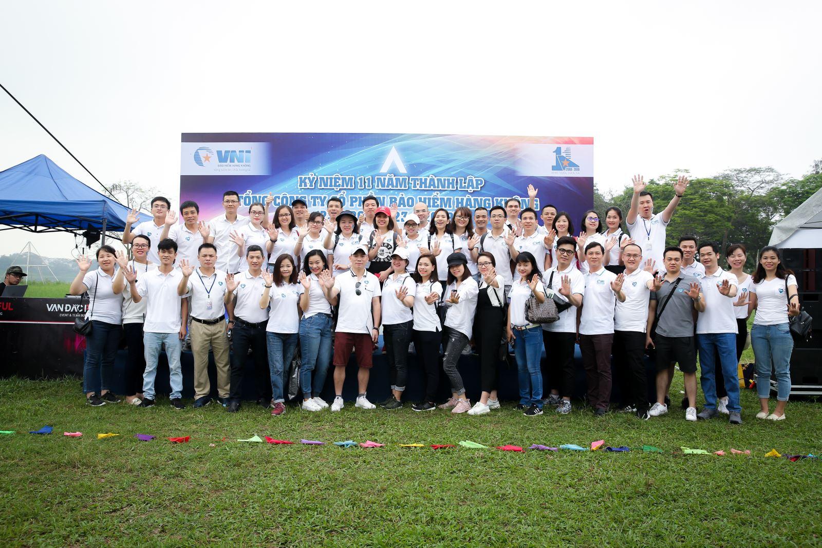 Bảo hiểm Hàng không (VNI) kỷ niệm 11 năm ngày thành lập và tổ chức hoạt động team building
